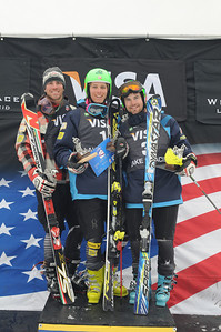 Tommy Ford, 1st, David Chodounsky, 2nd, Nolan Kasper, 3rd 2010 Visa U.S. Alpine Championships at Whiteface Mountain, NY Photo © Jon Margolis Image may be used for editorial use only.