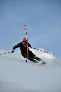 David Chodounsky (Crested Butte, CO) trains slalom with the U.S. Ski Team in Saas Fee, Switzerland (Adam Perreault/U.S. Ski Team)