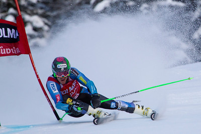 ALTA BADIA, ITALY - DECEMBER 16: Ted Ligety of USA races down the Gran Risa course whilst competing in the Audi FIS Alpine Ski World Cup Giant Slalom race on December 16 2012 in Alta Badia, Italy. (Photo by Mitchell Gunn/ESPA) Image may be used for editorial use only.