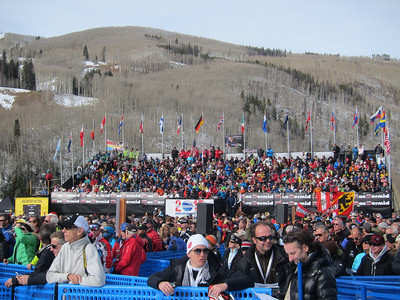 A record crowd for the 2012 Audi Birds of Prey downhill in Beaver Creek, CO (Doug Haney/USSA)