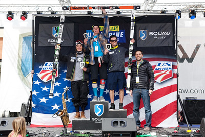 Tanner Farrow, Bryce Astle, Charles Raposo GS 2014 Nature Valley U.S. Alpine Championships at Squaw Photo: USSA