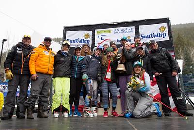 Western Region winners Women's GS 2016 Nature Valley U.S. Alpine Championships at Sun Valley, Idaho Photo: U.S. Ski Team