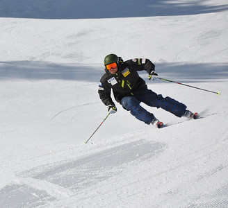 Squaw Valley 2012 U.S. Ski Team Day April 7, 2012 U.S. Ski Team alpine skier, Nick Daniels Dawn Patrol with U.S. Ski Team Athletes and Olympic Sponsors Photo: Katie Perhai/USSA