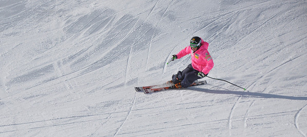 Squaw Valley 2012 U.S. Ski Team Day April 7, 2012 U.S. Ski Team alpine skier, Stacey Cook Dawn Patrol with U.S. Ski Team Athletes and Olympic Sponsors Photo: Katie Perhai/USSA
