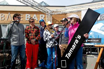 Squaw Valley 2012 U.S. Ski Team Day April 7, 2012 Squaw Valley names a ski run after Tamara McKinney Andy Wirth, Jonny Moseley, Marco Sullivan,  Julia Mancuso, Aksel Lund Svindal, Stacey Cook, Travis Ganong,Tamara McKinney Photo: Squaw Valley