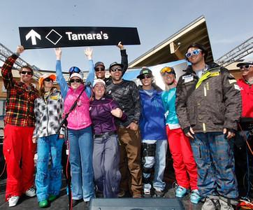 Squaw Valley 2012 U.S. Ski Team Day April 7, 2012 Squaw Valley names a ski run after Tamara McKinney Jonny Moseley, Julia Mancuso, Marco Sullivan, Aksel Lund Svindal, Tamara McKinney, Stacey Cook, Travis Ganong, Sho Kashima, Shannon Bahrke, Nick Daniels Photo: Squaw Valley