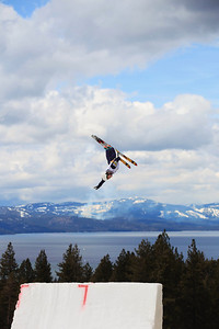 Jonathon Lillis Aerials training 2013 Sprint U.S. Freestyle Championships at Heavenly Resort, California. Photo: Sarah Brunson/U.S. Ski Team
