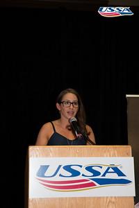 Jessica Jerome introduction John J. Clair Award: Deedee Corradini  2015 USSA Congress Chairman Award's Dinner Photo: USSA