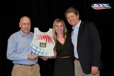 Dexter Paine, Ceil Folz and Tiger Shaw 2015 USSA Congress Chairman Award's Dinner Photo: USSA