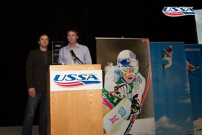 Freestyle Internaional Coach of the Year USSA International Coach of the Year: Matt Saunders with Todd Ossian 2015 USSA Congress Chairman Award's Dinner Photo: USSA