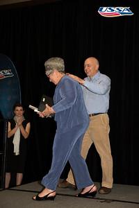 Blegen Award: Allen Church - Thelma Hoessler accepting on his behalf 2015 USSA Congress Chairman Award's Dinner Photo: USSA