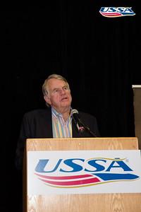 Yan Ross speaking John J. Clair Award: Deedee Corradini  2015 USSA Congress Chairman Award's Dinner Photo: USSA