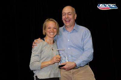 Russell Wilder Award: Kikkan Randall - Fast and Female (Liz Stephen accepting) 2015 USSA Congress Chairman Award's Dinner Photo: USSA