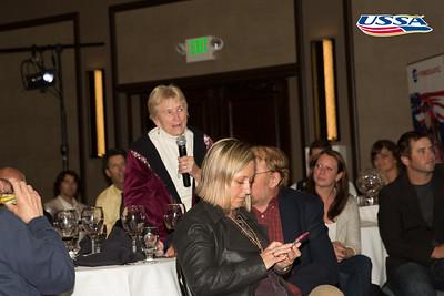Anna McIntyre introducing Allen Church 2015 USSA Congress Chairman Award's Dinner Photo: USSA